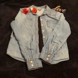 💕MOSSIMO chambray jean shirt XS 💕